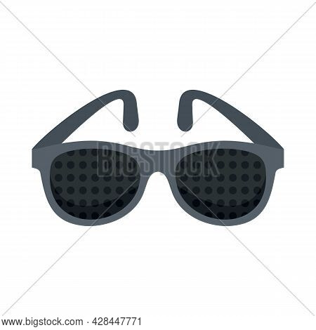 Examination Control Eyeglasses Icon. Flat Illustration Of Examination Control Eyeglasses Vector Icon