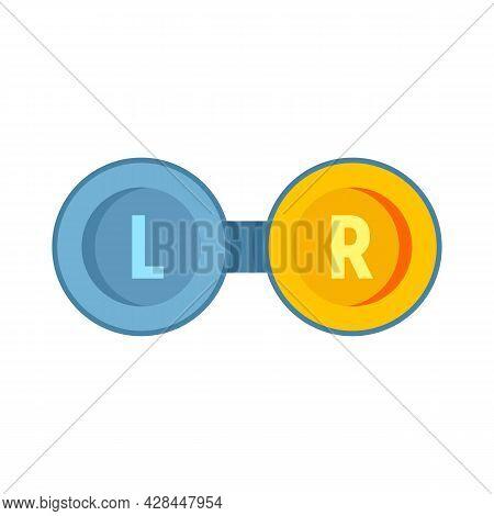 Eye Lens Boxes Icon. Flat Illustration Of Eye Lens Boxes Vector Icon Isolated On White Background