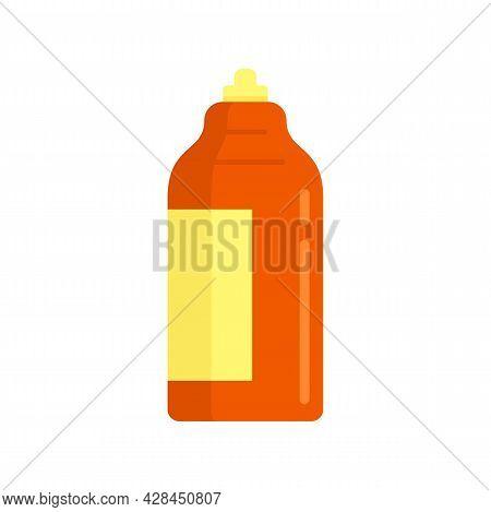 Antiseptic Bottle Icon. Flat Illustration Of Antiseptic Bottle Vector Icon Isolated On White Backgro