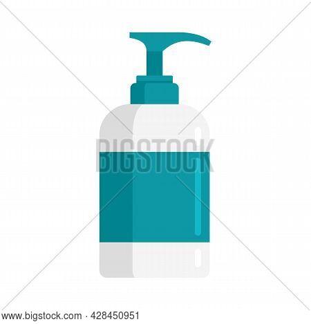 Disinfectant Dispenser Bottle Icon. Flat Illustration Of Disinfectant Dispenser Bottle Vector Icon I
