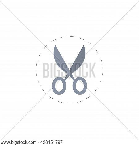 Scissors Clipart. Scissors Simple Vector Clipart. Scissors Isolated Clipart.