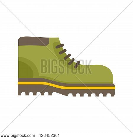 Hiking Boot Icon. Flat Illustration Of Hiking Boot Vector Icon Isolated On White Background