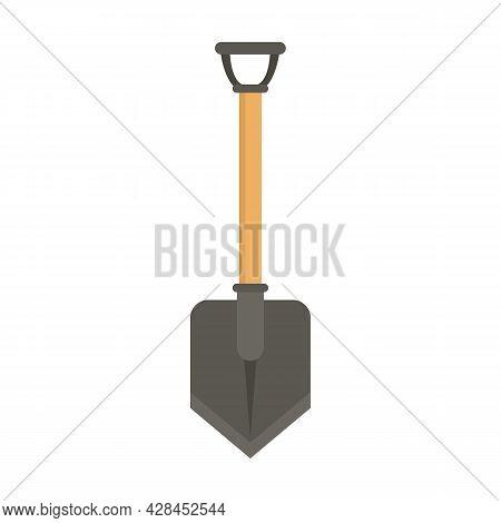 Hiking Shovel Icon. Flat Illustration Of Hiking Shovel Vector Icon Isolated On White Background