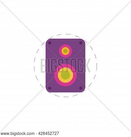 Audio Speakers Clipart. Audio Speakers Simple Vector Clipart. Audio Speakers Isolated Clipart.