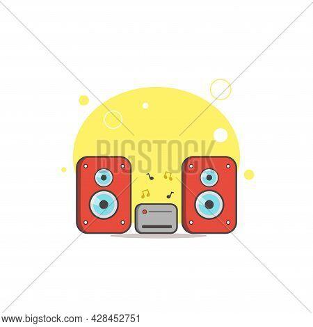 Stereo Speakers Clipart. Stereo Speakers Simple Vector Clipart. Stereo Speakers Isolated Clipart.