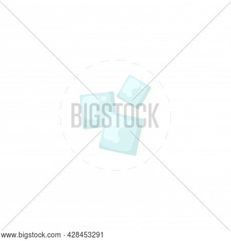 Ice Cubes Clipart. Ice Cubes Simple Vector Clipart. Ice Cubes Isolated Clipart.