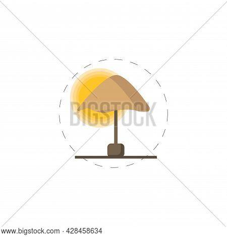 Sun Umbrella Clipart. Beach Umbrella Simple Vector Clipart. Beach Umbrella Isolated Clipart.