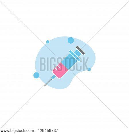 Syringe, Injection Clipart. Syringe Simple Vector Clipart. Syringe Isolated Clipart.