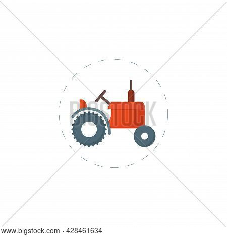 Tractor Clipart. Tractor Simple Vector Clipart. Tractor Isolated Clipart.