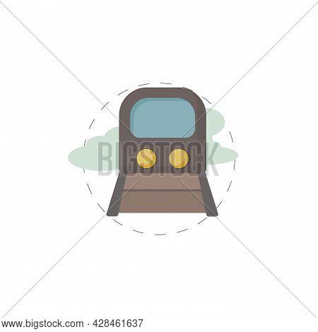 Train Clipart. Train Simple Vector Clipart. Train Isolated Clipart.