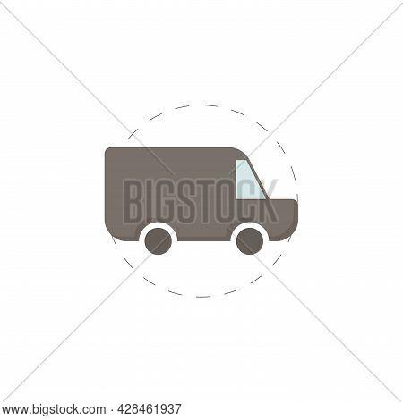 Van Clipart. Van Simple Vector Clipart. Mini Van Isolated Clipart.