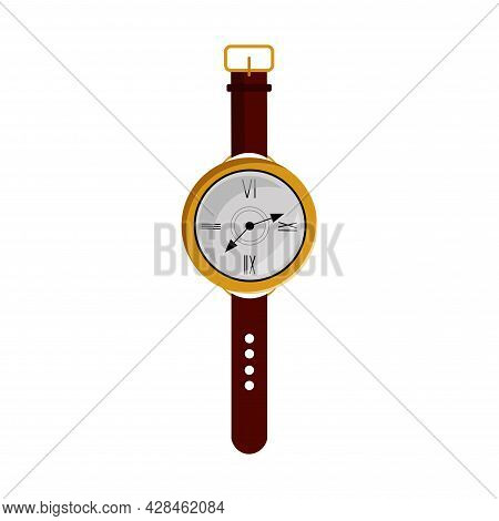 Wristwatch Clipart. Watch Simple Vector Clipart. Hand Watch Isolated Clipart.