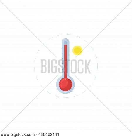 Weather Thermometer Clipart. Weather Thermometer Simple Vector Clipart. Weather Thermometer Isolated