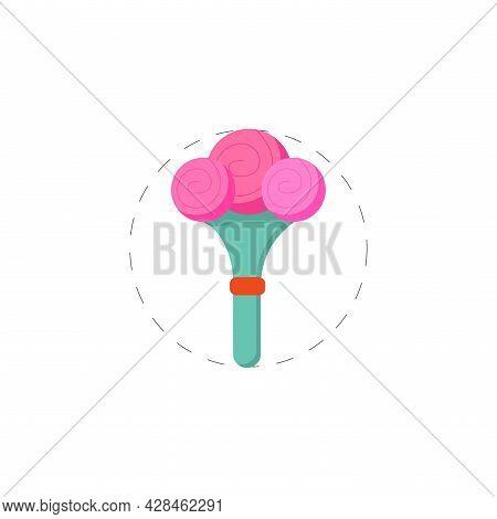 Flower Bouquet Clipart. Flower Bouquet Simple Vector Clipart. Flower Bouquet Isolated Clipart.