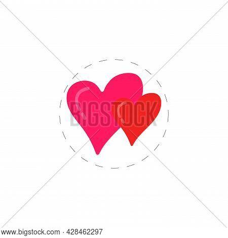 Love Hearts Clipart. Love Hearts Simple Vector Clipart. Love Hearts Isolated Clipart.