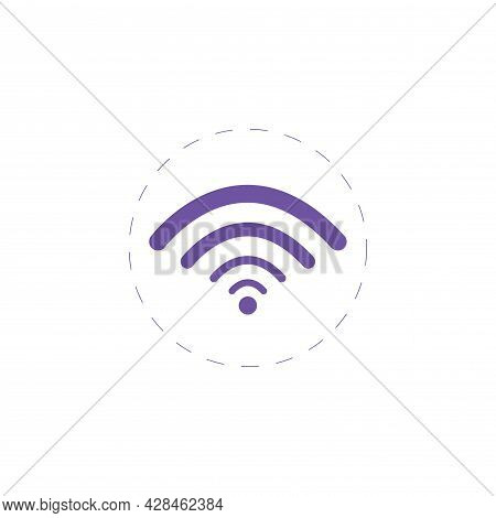 Wi-fi Clipart Icon. Wi Fi Simple Vector Clipart. Wi-fi Isolated Clipart.