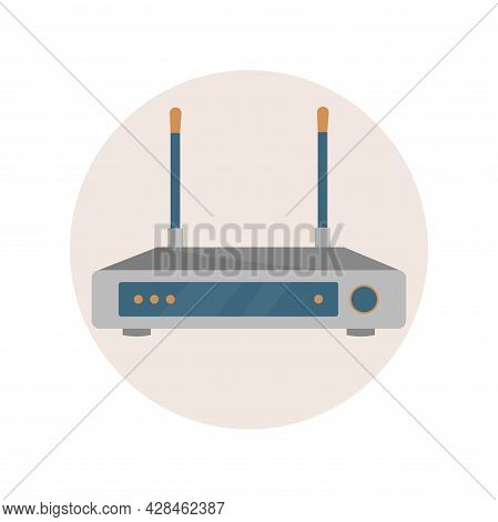 Wi Fi Router Clipart. Wi Fi Simple Vector Clipart. Wi Fi Router Isolated Clipart.
