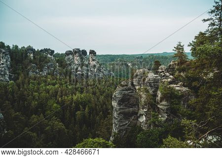 Beautiful Saxon Switzerland In The East Of Germany, Saxon