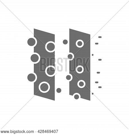 Dirty Air Filtration Gray Icon. Isolated On White Background