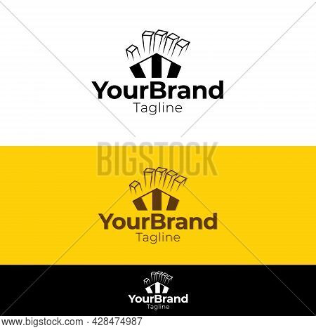 An Unique And Simple Logo That Is Suitable For Businesses Related To Fast Food, Especially French Fr