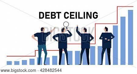 Debt Ceiling Limit Of Loan Bankruptcy Diagram Of Crisis Management