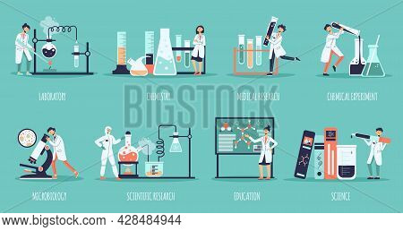 Science Laboratory Composition Set With Laboratory Chemistry Medical Research Chemical Experiment Mi
