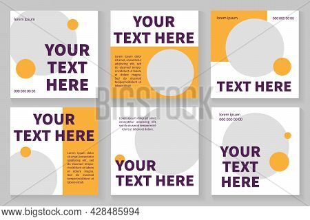 Brochure Square Template For Education, Summer Camp. Empty Space For Products. Vector Layouts For Ma