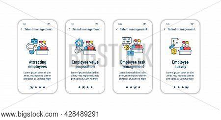 Talent Management Onboarding Mobile App Screens.recruitment. Talent Development.business Practice St
