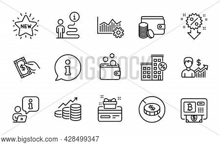 Finance Icons Set. Included Icon As Discount, Wallet Money, Payment Method Signs. Pay Money, Busines