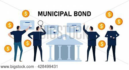 Municipal Bonds Investment Debt For City Town Government Office Financial Funding Diversify