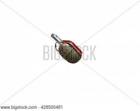 The Photo Is Isolated On A White Background. The Concept Of News About Defusing Terrorism Is An Act