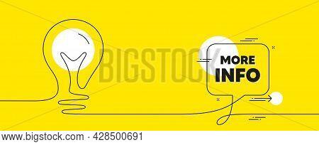 More Info Text. Continuous Line Idea Chat Bubble Banner. Navigation Sign. Read Description Symbol. M