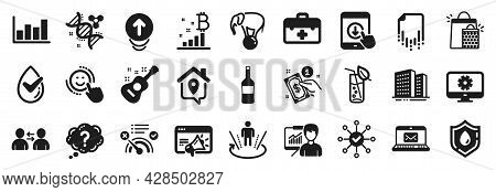 Set Of Business Icons, Such As Report Diagram, No Internet, Work Home Icons. Seo Marketing, Question