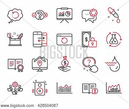 Vector Set Of Education Icons Related To Money Diagram, Quiz Test And Certificate Icons. Chemistry P