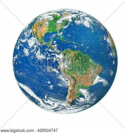 Blue Earth Isolated On White Background. (clipping Path) (elements Of This Image Furnished By Nasa.)