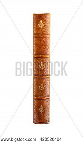 Old Vintage Book Spine Isolated On White Background