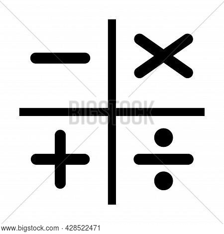 Plus, Minus, Multiply And Devide To Mathematics Symbol, Education Maths Icon, Web Element Vector Ill