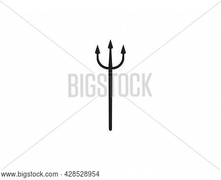 Hell, Instrument, Trident Icon On White Background. Vector Illustration.