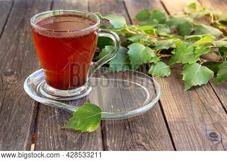 Medicinal Tea Made From Birch Chaga Is Used In Folk Medicine.
