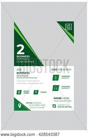 Professional Corporate Business Event Poster Design Template