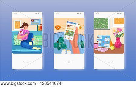 Good Reviews, Feedback, Customer Experience. Mobile App Screens, Vector Website Banner Template. Ui,