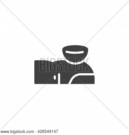 Contact Lens On A Finger Vector Icon. Filled Flat Sign For Mobile Concept And Web Design. Use Eye Le