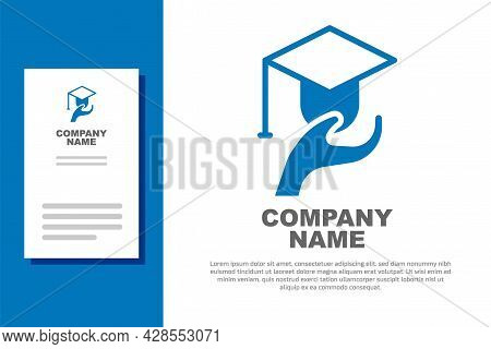Blue Education Grant Icon Isolated On White Background. Tuition Fee, Financial Education, Budget Fun