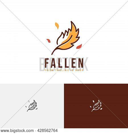 Fallen Leaf Autumn Fall Season Nature Logo