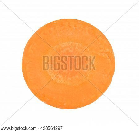Top View Of Carrot Isolated On White Background