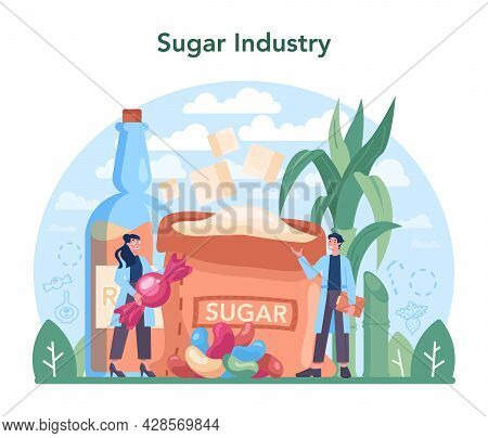 Sugar Production Industry. Saccharose And Fructose Extracted