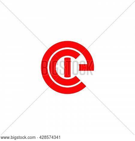 Letter Cie Simple Circle Geometric Line Logo Vector