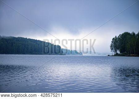 Panoramic View Of Vlasina Lake In South Serbia