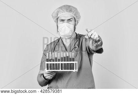 Hospital Treatment. Quarantine Plans. Epidemic Threshold. Medical Research. Man In Medical Lab Inspe