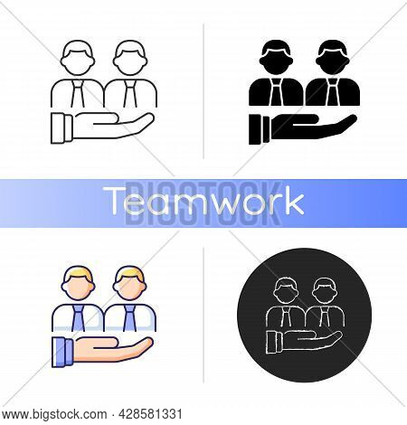 Support Icon. Provide Technical And Customer Support Service. Collective Help And Compassion. Collea